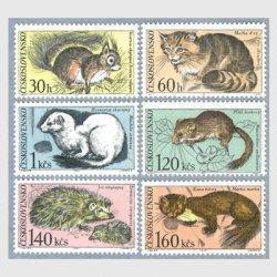 チェコスロバキア 1967年Tatra国立公園の小動物6種