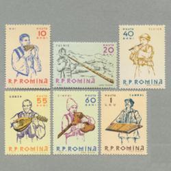 ルーマニア 1961年郷土楽器6種