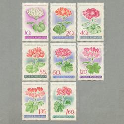 ルーマニア 1968年ゼラニウム8種