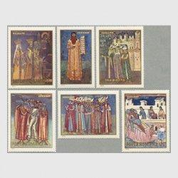 ルーマニア 1970年北モルダビア修道院のフレスコ画6種