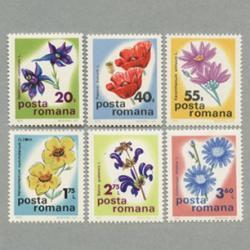 ルーマニア 1975年花6種