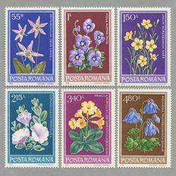 ルーマニア 1979年花6種