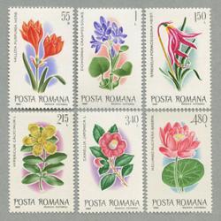 ルーマニア 1980年花6種