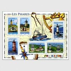 フランス 2007年灯台小型シート