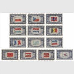 アメリカ 1943-44年国旗シリーズ13種