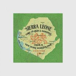 シエラレオネ 1964年地図型切手