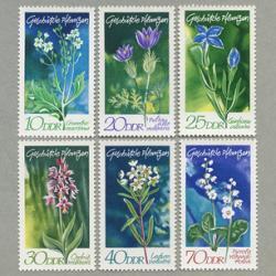 東ドイツ 1970年保護植物6種