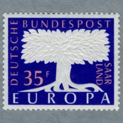 ザール 1957年ヨーロッパ切手2種