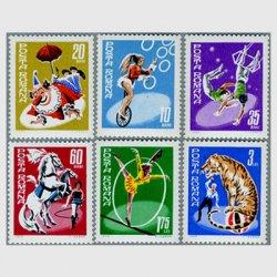 ルーマニア 1969年サーカス6種