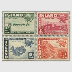 アイスランド 1949年UPU75年4種