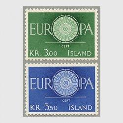 アイスランド 1960年ヨーロッパ切手2種