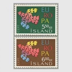 アイスランド 1961年ヨーロッパ切手2種