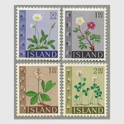 アイスランド 1964年花4種 ※少難品