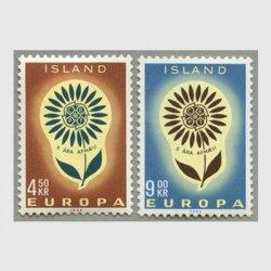 アイスランド 1964年ヨーロッパ切手2種