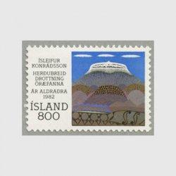 アイスランド 1982年Herdubreid山