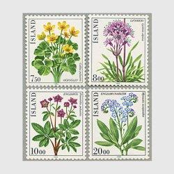 アイスランド 1983年花4種