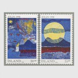 アイスランド 1992年クリスマス2種