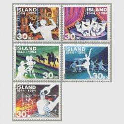 アイスランド 1994年独立50年5種