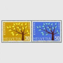 スイス 1962年 ヨーロッパ切手2種