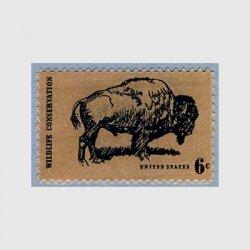 アメリカ 1970年 野生動物保護(バッファロー)