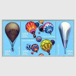 アメリカ 1983年 気球200年4種