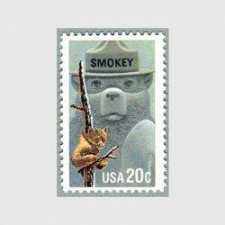 アメリカ 1984年 森林火災防止運動(スモーキーベア)