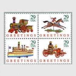 アメリカ 1992年 クリスマス おもちゃ4種連刷