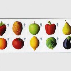 イギリス 2003年果物と野菜10種(シール式)