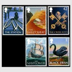 イギリス 2003年ヨーロッパ切手 パブの看板5種