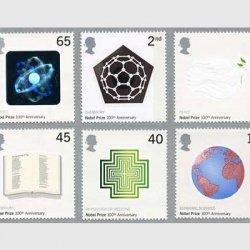 イギリス 2001年 ノーベル賞100年6種