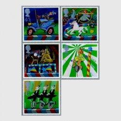 イギリス 2002年 ヨーロッパ切手(サーカス)5種