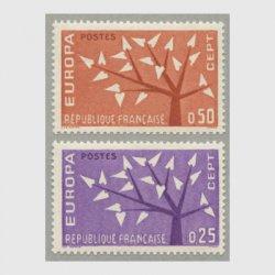 フランス 1962年ヨーロッパ切手2種