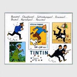 フランス 2000年切手の日「タンタン」小型シート ※少難品