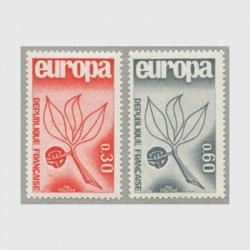 フランス 1965年ヨーロッパ切手2種