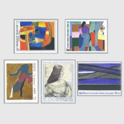 フランス 1986年美術切手5種