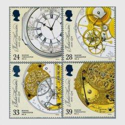 イギリス 1993年ハリソンの航海用時計300年記念4種