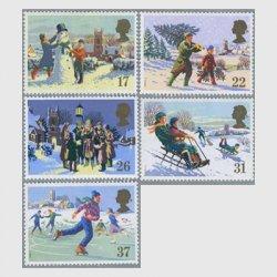 イギリス1990年クリスマス切手5種