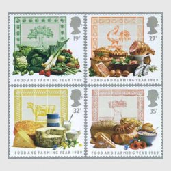 イギリス 1989年食物と農耕4種