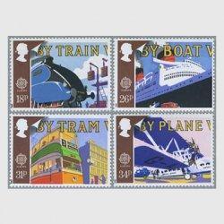 イギリス1988年ヨーロッパ切手4種