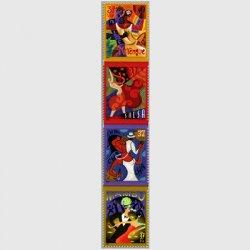アメリカ 2005年レッツダンス4種連刷