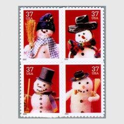 アメリカ 2002年クリスマス4種