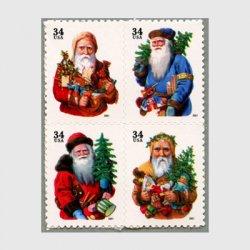 アメリカ 2001年クリスマス4種(年号文字大)