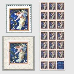 アメリカ 1995年クリスマス真夜中の天使切手帳単片(シール式)