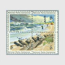 アメリカ 1972年国立公園100年4種