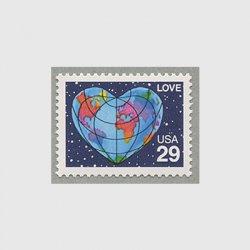 アメリカ 1991年愛の切手ハートの地球
