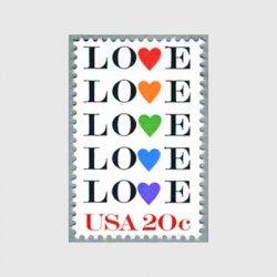 アメリカ 1984年愛の切手LOVE