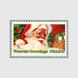 アメリカ 1983年クリスマスプレゼントを持つサンタクロース