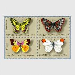 アメリカ 1977年チョウ4種