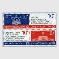 アメリカ 1974年独立革命200年4連刷