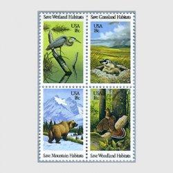 アメリカ 1981年野生動物保護4種